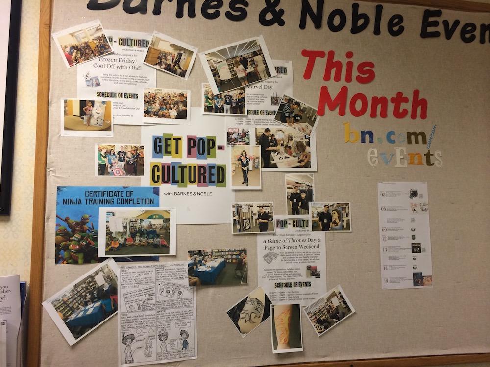 bulletin board at Barnes & Noble on Stevens Creek